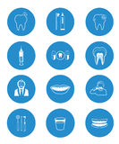 Dental icons collection Stock Photos