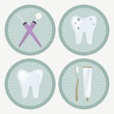 Dental Icons Royalty Free Stock Photos