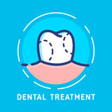 Dental-icons copy. Health Dent Logo design vector template flat line style. Dental treatment illustration. Dental clinic Logotype concept icon. Health tooth in a Stock Photos