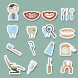 Dental icons. Illustration of dental icons set Stock Photography