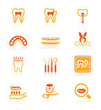 Dental icons || JUICY series Royalty Free Stock Photo