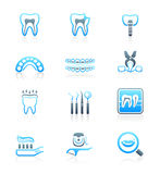Dental icons || MARINE series Stock Images