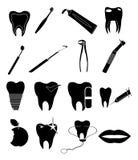 Dental icons set Stock Image