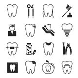 Dental icons set Stock Image