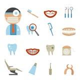 Dental Icons set Stock Photo