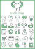 Dental Icons set  Royalty Free Stock Photo