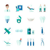 Dental Icons Set Stock Photo