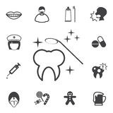 Dental icons set Stock Photography