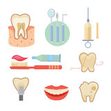 Dental icons set vector eps10 Royalty Free Stock Image