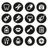 Dental icons set Stock Photography