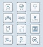 Dental icons || TECH series Royalty Free Stock Photos