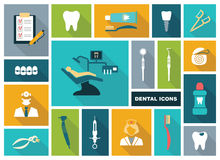 Dental icons. Vector Illustration. Stock Photo