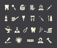 Dental icons. Vector Illustration. Stock Photography