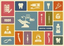 Dental icons. Vector Illustration. Stock Images