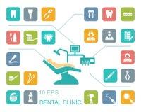 Dental icons. Vector Illustration. Stock Image