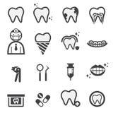 Dental icons Stock Photos