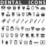 Dental Icons. On a white background with a shadow Royalty Free Stock Images