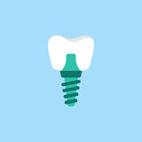 Dental implant flat icon Royalty Free Stock Photo