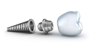 Dental implant lying on its side Stock Photography