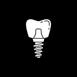 Dental implant solid icon Royalty Free Stock Photos