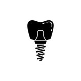 Dental implant solid icon Stock Photography