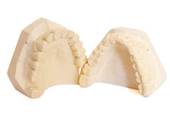 Dental impression 5. Dental impression isolated against white background Royalty Free Stock Photo
