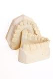 Dental impression 6. Dental impression isolated against white background Stock Photo