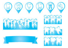 Dental info graphic Royalty Free Stock Photos