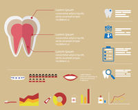 Dental Infographic Background Royalty Free Stock Image