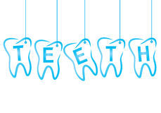 Dental the inscription teeth Stock Images