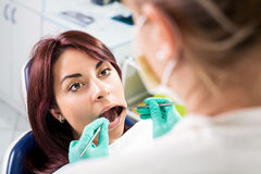 Dental inspection Stock Photography