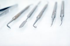 Dental instrument.shallow DOF Royalty Free Stock Photo