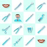 Dental instruments icons set Stock Photo