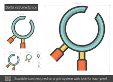 Dental instruments line icon. Dental instruments vector line icon  on white background. Dental instruments line icon for infographic, website or app. Scalable Stock Photos