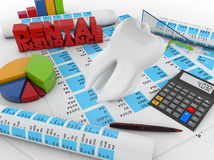 Dental insurance accounting Royalty Free Stock Images