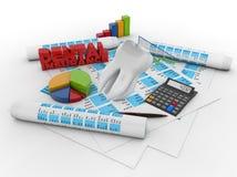 Dental insurance accounting Royalty Free Stock Image