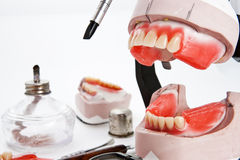 Dental lab articulator, equipments for denture Stock Image