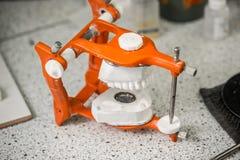 Dental laboratory. Articulator, equipment in dental laboratory Stock Images