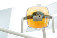 Dental lamp. Shot of dental lamp in the clinic Stock Images