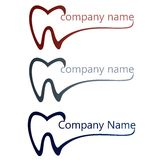 Dental logo. Logo for dentists and dentistry or dental companies Stock Photos