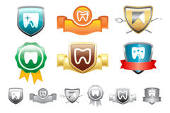 Dental logo. Icons for dental clinic, concept for medical company Stock Images