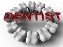 Dental logo circular pattern Stock Images