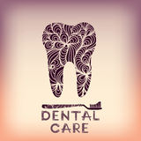 Dental logo design Royalty Free Stock Photo