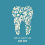 Dental logo design Royalty Free Stock Image