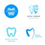 Dental logos templates. Abstract vector teeth signs. Stock Photos