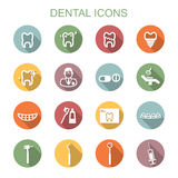 Dental long shadow icons Royalty Free Stock Image