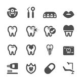 Dental and medical icon set Stock Images