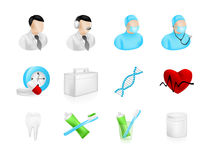 Dental Medical Icons Royalty Free Stock Image