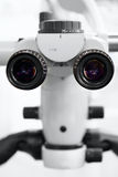 Dental medical microscope for medical operations close-up eyepieces Royalty Free Stock Photos