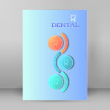 Dental medicine concept cover page A4 brochure Royalty Free Stock Photography
